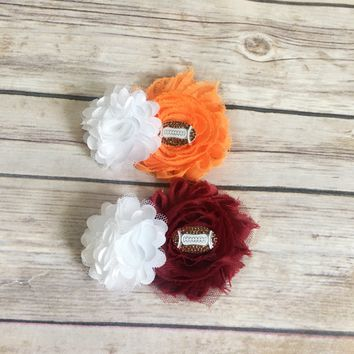Custom football hair clips