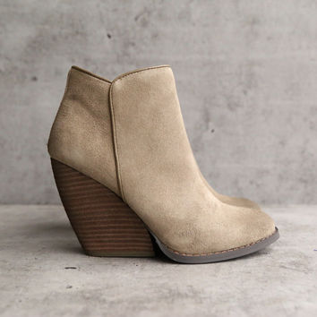 very volatile whitby demi wedge suede ankle bootie (more colors)