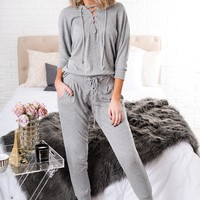 Cuddle Me Up Two Piece Set (Heather Grey)