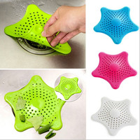 1pcs Bathroom Shower Drain Cover Starfish Hair Filter Sink Strainer