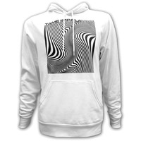 Tame Impala Men's  Wave Square Hooded Sweatshirt White