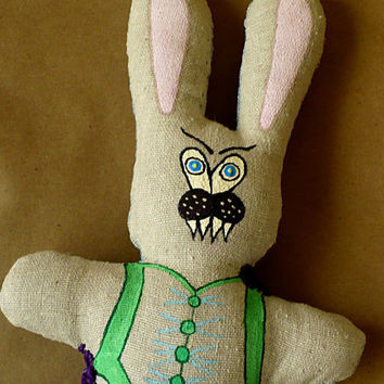 Alternative / Folk / HAB Easter Hares and Springtime Scares - Twisted Bunny - Cloth Doll - OOAK