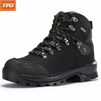 TFO hiking shoes men Boot Outdoor Waterproof Climbing fishing hunting genuine leather camouflage military tactical sneaker