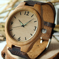 Wrist wood watch, wooden watch, mens watch, womens watch, Bamboo Watch, unique watches, mens wood watch, man watches