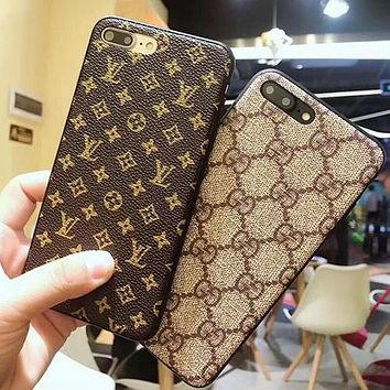 LV Gucci 2017 Hot ! Popular iPhone 7 iPhone 7 plus iPhone X XR XS XS MAX- Stylish Cute On Sale Hot Deal Matte Couple Phone Case For iphone 6 6s 6plus 6s plus For Black Friday