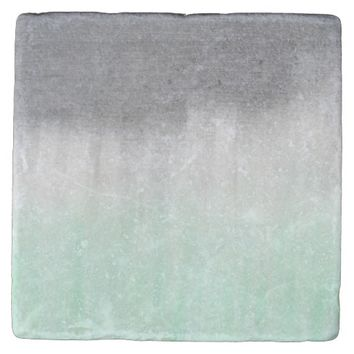 urban concrete, mint green stone coaster
