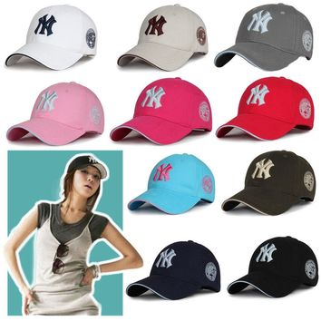 Strapback Baseball Bboy Cap New York Yankees Cap NY Logo Hat Hip-Hop Women Mens
