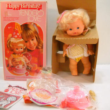 Happy Birthday Tender Love Doll by Mattel #9540 1975 New In Box 40+ Years Old