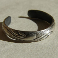 Silver Toe Ring Swirly Leaves Handmade Sterling by NiciLaskin