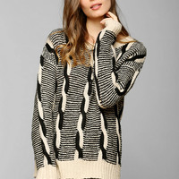 Sparkle & Fade Twisted Cable Sweater - Urban Outfitters