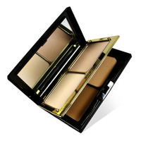 DANNI 2015 Luxury 3 Colors Pressed Powder Face Contour Makeup Powder Palette Skin Finish Fixing Make Up Powder