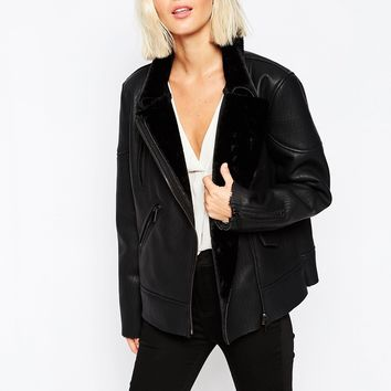 Selected Josefine Jacket with Faux Fur