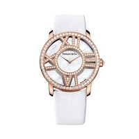 Tiffany & Co. -  Atlas® cocktail watch in 18k rose gold with diamonds, quartz movement.