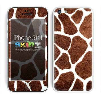 Real Giraffe Animal Print Skin For The iPhone 5c