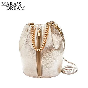 Mara's Dream New Lady Women Bag PU Leather Handbag Shoulder Bucket Bags Tote Purse Satchel Women Messenger Hobo Crossbody Bags