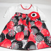 Baby Christmas Dress , Onesuit Dress,  Bodysuit Dress, Holiday Baby Clothes