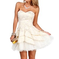 Pre-order- Carrie-gold Prom Dress