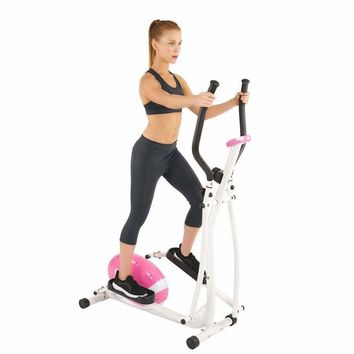 Pink Magnetic Elliptical Trainer By Sunny Health & Fitness