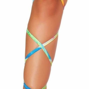 "Roma Rave 3323 - 100"" Tie Dye Leg Strap with Attached Garter"