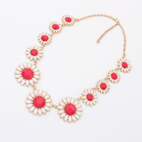 Gift New Arrival Jewelry Stylish Shiny Accessory Korean Floral Necklace [6573103815]