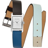 Rebecca Minkoff Moment Wrap Leather Strap Watch,   Nordstrom