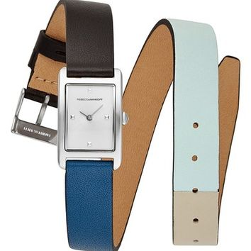 Rebecca Minkoff Moment Wrap Leather Strap Watch, | Nordstrom