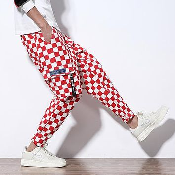 Vintage Checkered Cargo Pants