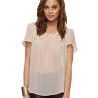 Chiffon & Lace Top | FOREVER21 - 2000040990