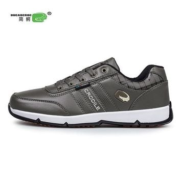 Ifrich Big Size Running Shoes For Men Brand Sport Sneakers Men Luxury Training Shoes Black Jogging Shoes Leather Sport Trainers