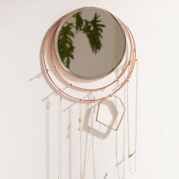 Wall-Mounted Lapsis Mirror + Jewelry Storage - Urban Outfitters