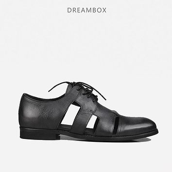 dreambox Summer new style fashionable gentleman style of the style of men's leather shoes