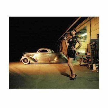 37 Coupe Tattoo and Leather Pin Up Poster