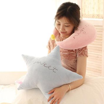 Moon Star Home Decorate Soft Pillow Cushion Baby Toys Kid Doll Birthday Gift Cute Plush