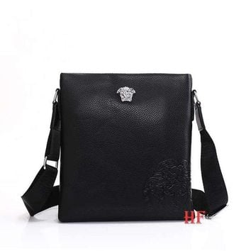 Gotopfashion Versace Fashionable Casual Leather Man Bag Man's Messenger Bag Shoulder Bag H-MYJSY-BB