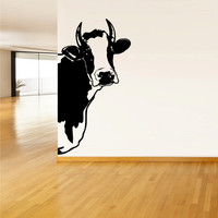 Wall Vinyl Sticker Decals Decor Art Bedroom Design Mural Modern Design Cow Milk Funny Part (z599)