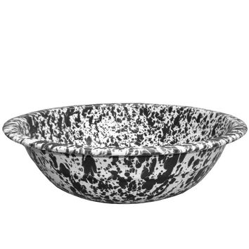 Enamelware Mini Basin - Black Marble