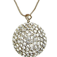 Geo Sparkle Ball Long pendant | Gold | Accessorize