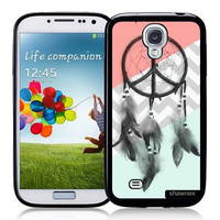 Galaxy S4 Case - S IV Case - Shawnex Dreamcatcher Mint Coral Grey Chevron Samsung Galaxy i9500 Case Snap On Case