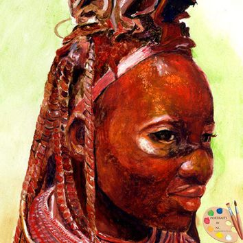 African Woman Oil Painting 59
