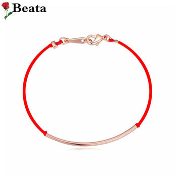 Gold plated simple good luck red string bracelet boutique bracelet men and women