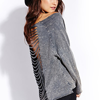 Grunge Girl Shredded Sweatshirt