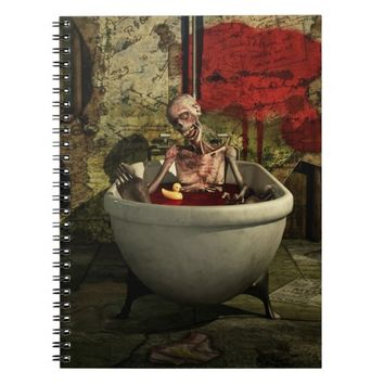 Bath Time For Zombie Funny Notebook Art
