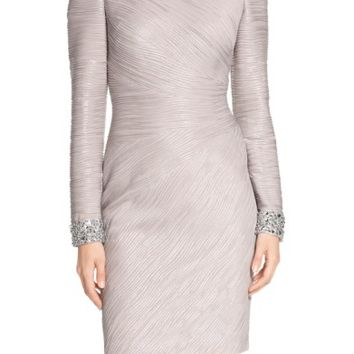 Eliza J Embellished Sleeve Knit Sheath Dress (Regular & Petite) | Nordstrom