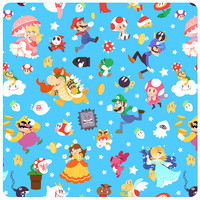 Mario Pattern, by Maya Kern