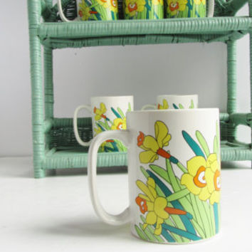 Bright Yellow Daffodil Mug Collection (6)