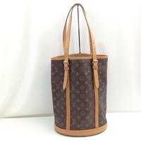 Auth Louis Vuitton Monogram Bucket GM Shoulder Bag Brown 7L080600#