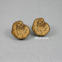 Forever Alone Stud Earrings by NBsCloset on Etsy