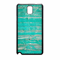Teal Wood Samsung Galaxy Note 3 Case