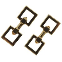 Cartier Mid Century Gold Cufflinks