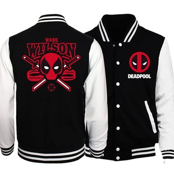 Trendy 2018 Spring Hot Men Baseball Uniform Jacket Deadpool Coat Batman 2/ The Flash/ The Punisher Men Jackets Fashion Cosplay Costume AT_94_13